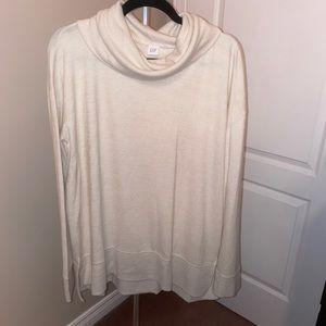 Gap cream cowl neck sweater